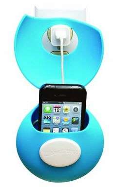 A charging station keeps your phone and cord out of the way in a smart caddy.
