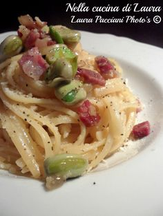 LINGUINE PASTA VERA CON FAVE, PANCETTA E PECORINO!!    By Laura Pacciani.    http://blog.giallozafferano.it/cucinalaura/linguine-con-fave-pancetta-e-pecorino/    www.pastavera.it    https://www.facebook.com/Pastavera