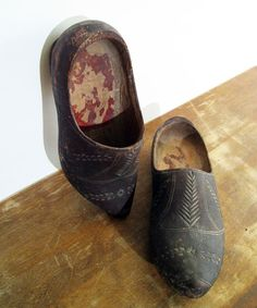 Old Wooden Dutch Clogs