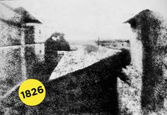 """The first photo ever was called """"View from the Window at Le Gras"""" by French inventor Joseph Nicéphore Niépce."""
