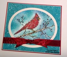 Snowy Beauty of the Season by Pamela T Stoner  Stampin' Up!