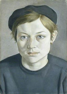 Girl with Beret - Lucian Freud Date painted: 1951 Oil on canvas, 35.5 x 25.6 cm