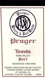 Prager's 2006 Tomás Port (Napa Valley)