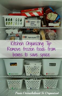 From Overwhelmed to Organized: 2 Tips for Organizing Your Freezer