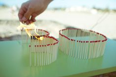 #DIY   1) use matches to spell out the birthday boy/girl's age.   2) light on fire.  3) sign happy birthday!