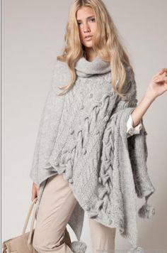 Ponchos tejidos moda invierno 2013 Agostina Bianchi