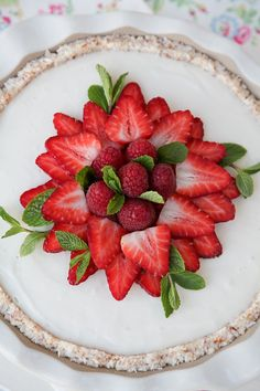 Coconut Pie with Strawberries