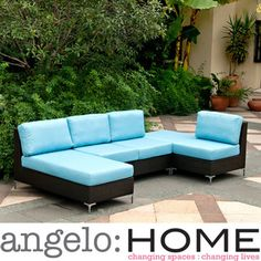 @Overstock - The angelo:HOME Napa Springs grouping includes an armless loveseat, chair, chaise and table/ottoman designed by Angelo Surmelis. The Napa Springs collection has the versatility and style to be used for both indoors and outdoors.http://www.overstock.com/Home-Garden/angelo-HOME-Napa-Springs-Sky-Blue-4-Piece-Indoor-Outdoor-Wicker-Furniture-Set/6449129/product.html?CID=214117 $1,604.99