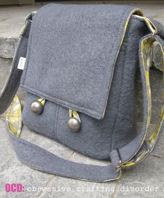 Quality Sewing Tutorials: Messenger Bag tutorial by Kristie of OCD
