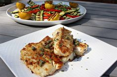 The Yuca Diaries: Pan Seared Cod with Grilled Summer Veggies