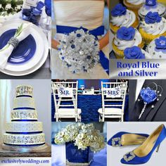 Royal Blue and Silver Wedding | #exclusivelyweddings  - Blue and silver is a great combination, for weddings, especially for winter, although it works well for spring and summer, too. It is an elegant, somewhat formal combination.