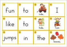 Sentence Scramble with Cut and Paste Worksheets - Autumn Theme. Includes 21 sentences to build AND also includes differentiated worksheets.