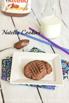 Nutella cookies with only three ingredients