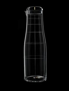Engraved drinking glasses that form new patterns when stacked together