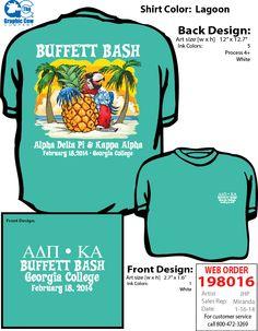 Buffett Bash social t-shirt.