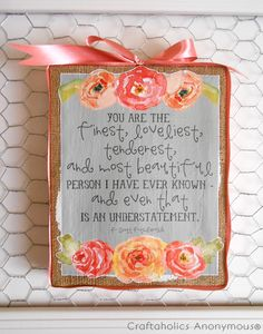 Mother's Day gift idea + free printable. Fantastic handmade gift idea for Mom Day!
