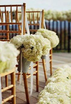 hydrangea wedding arrangements