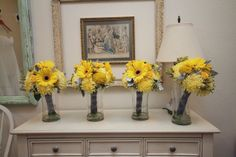 Our incredible flowers created by Blooms & Balloons of Kuna, ID ~ Yellow Wedding Bouquets