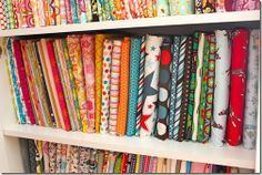Mini bolt fabric storage
