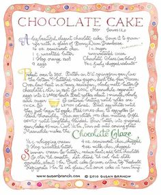 Susan Branch chocolate cake (LOVE)