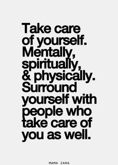 De stress mentally, spiritually ,physically.And be with people who take care of you as well. via | the good vibe