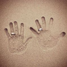 Repinned From Bryce-lucas Wedding!!! By wedding pics, at the beach, ring pictures, beach wedding photos, hand prints, beach weddings, wedding rings, wedding pictures, anniversary pictures