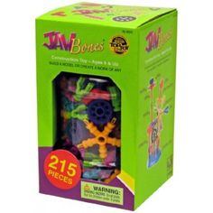 Jawbones Construction Toys - This multi-piece building system is the perfect set for any future artist, architect, designer, engineer or builder to start creating fabulous structures and artworks!