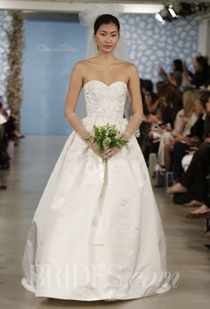 """Ambiance~Distinctive Weddings and Events A-Line Gown: Oscar de la Renta - Spring 2014. """"Antonia"""" ivory silk faille and organza sequin embroidered sweetheart a-line gown, Oscar de la Renta photo c/o brides.com  (410) 819-0046"""