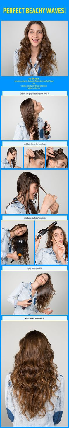 Perfect Beachy Waves! Here's How to Get 'Em