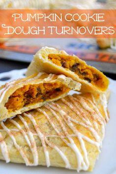 Pumpkin Cookie Dough Turnovers