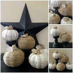 book page and twine pumpkins