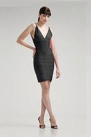 Herve Leger Black Banded Dress