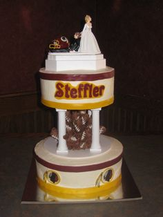 Redskins wedding cake.  I love him, but not this much ;)