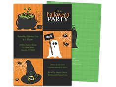 ghoul halloween party invitation template