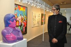 Amitabh at 70 in looking at Arunkumar H. G.'s work at B Seventy show