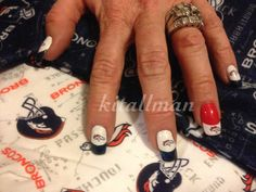 Bronco nails -- Go Broncos!!!