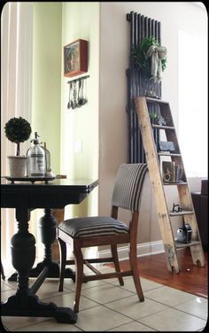 August 2014 Cottage of the Month #vintageladder #ladder