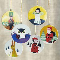 ornaments by Jen Corace.