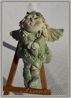 Ангелочки из соленого теста фото
