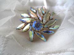 Crescent Rhinestone Brooch by mimiyaya on Etsy, $35.00