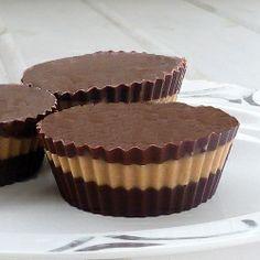 No bake Homemade Peanut-Butter Cups!  (gluten free)