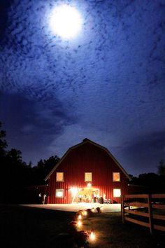 Pratt Place Barn at night, Fayetteville, AR