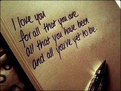 I love you(: