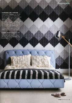 See to Believe... Knitted Wallpaper