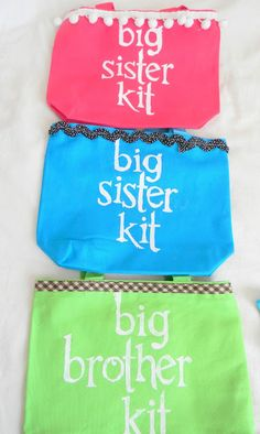 Big Brother/Big Sister Kit. Definitely will be putting.something together like this for z.