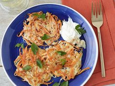 Sweet Potato Latkes Recipe : Food Network Kitchen : Food Network - FoodNetwork.com