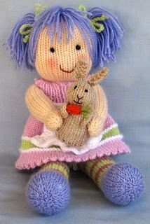 sweet knitted doll