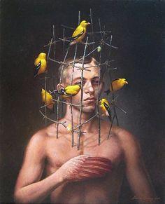 bird, graphic design, surreal artist, digit art, digital art, artist steven, paint, steven kenni, thing artist