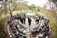 Ceremony in a labyrinth - love this idea!