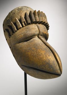Africa | Mask from the an people of Liberia | Wood mask